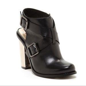 Remi mirrored block heel bootie